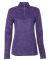 Badger 4173 Tonal Blend Women's Performance Quarter Zip Purple Tonal Blend