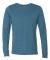 BELLA+CANVAS 3501 Long Sleeve T-Shirt HTHR DEEP TEAL