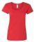 Gildan 64550L Softstyle Women's Deep Scoopneck T-Shirt RED