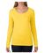 399 ANVIL LADIES SCOOP NECK L/S T Lemon Zest