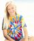 60B Dyenomite Tie-Dye Youth Rainbow Cut Spiral Tee