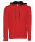 Next Level 9301 Unisex French Terry Pullover Hoody RED/ BLACK