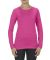 5564  ALSTYLE Jr Sheer Tee Long Sleeve Hot Pink