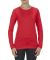5564  ALSTYLE Jr Sheer Tee Long Sleeve Red