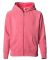 Independent Trading Co. PRM15YSBZ Youth Lightweight Special Blend Raglan Zip Hood Pomegranate