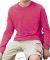 6201 LA T Youth Fine Jersey Long Sleeve T-Shirt HOT PINK