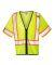 ML Kishigo 1565-1566 Economy Single Pocket Contrasting Mesh Vest Lime