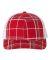 Richardson Hats 112P Patterned Snapback Trucker Cap Plaid Print Red/ Charcoal/ White