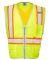 ML Kishigo 1530-1531 Premium Brilliant Series® X Black Vest Lime