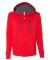 50 LSF73R Women's Sofspun® Full-Zip Hooded Sweatshirt Fiery Red