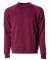PRM30SBC Independent Trading Co. Unisex Special Blend Raglan Crewneck Sweatshirt  Maroon