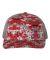 Richardson Hats 112P Patterned Snapback Trucker Cap Red Digital Camo/ Charcoal