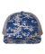 Richardson Hats 112P Patterned Snapback Trucker Cap Royal Digital Camo/ Charcoal