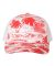Richardson Hats 112P Patterned Snapback Trucker Cap Island Print Red/ White