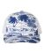 Richardson Hats 112P Patterned Snapback Trucker Cap Island Print Royal/ White