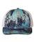 Richardson Hats 112P Patterned Snapback Trucker Cap Kryptek Pontus/ White