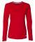 Russel Athletic 64LTTX Women's Essential Long Sleeve 60/40 Performance Tee True Red