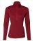 Russel Athletic QZ7EAX Women's Striated Quarter-Zip Pullover True Red