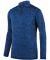Augusta Sportswear 2955 Intensify Black Heather Quarter-Zip Pullover