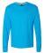 52 42L0 X-Temp Long Sleeve T-Shirt Neon Blue Heather