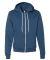 F497 American Apparel USA Made Unisex Flex Fleece Zip Hoody SEA BLUE