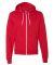 F497W Unisex Flex Fleece Zip Hoodie RED