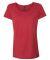 Hanes MO150 Women's Modal Triblend T-Shirt Carmine Red Triblend