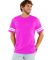 LAT 6937 Adult Fine Jersey Football Tee VN HT PNK/ BD WH