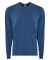Next Level Apparel 6411 Unisex Sueded Long Sleeve Crew HEATHER COOL BLU