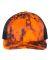 Richardson Hats 112P Patterned Snapback Trucker Cap Kryptek Inferno/ Black