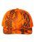 Richardson Hats 112P Patterned Snapback Trucker Cap Kryptek Inferno/ Blaze