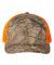 Richardson Hats 112P Patterned Snapback Trucker Cap Realtree Edge/ Neon Orange