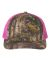 Richardson Hats 112P Patterned Snapback Trucker Cap Realtree Edge/ Neon Pink