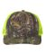 Richardson Hats 112P Patterned Snapback Trucker Cap Realtree Edge/ Neon Yellow