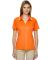 75118 Ash City - Extreme Eperformance™ Ladies' Propel Interlock Polo with Contrast Tape AMBER ORANGE 477
