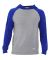 Russel Athletic 64HTTM Jersey Pullover Hooded Raglan Oxford/ Royal