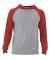 Russel Athletic 64HTTM Jersey Pullover Hooded Raglan Oxford/ True Red