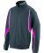 7711 Augusta Adult Cross Weave Slate/ Power Pink/ White