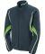 Augusta Sportswear 7712 Women's Rival Jacket Slate/ Lime/ White