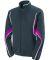 Augusta Sportswear 7712 Women's Rival Jacket Slate/ Power Pink/ White