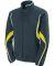 Augusta Sportswear 7712 Women's Rival Jacket Slate/ Power Yellow/ White