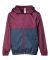Independent Trading Co. EXP24YWZ Youth Light Weight Windbreaker Zip Jacket Maroon/ Classic Navy