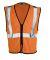 ML Kishigo 1547-1548 Class 2 Zipper Mesh Economy Vest Orange