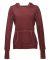 J8912 J-America Ladies' Vintage Zen Hooded Fleece Twisted Bordeaux