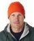 8130 UltraClub® Acrylic Knit Beanie with Cuff  BLAZE ORANGE