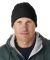 8130 UltraClub® Acrylic Knit Beanie with Cuff  BLACK
