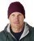 8130 UltraClub® Acrylic Knit Beanie with Cuff  BURGUNDY
