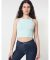 8369 American Apparel Cotton Spandex Sleeveless Crop Top Menthe (Discontinued)