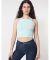 American Apparel 8369W Ladies' Cotton Spandex Sleeveless Crop Top Menthe