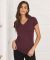 BELLA 6005 Womens V-Neck T-shirt